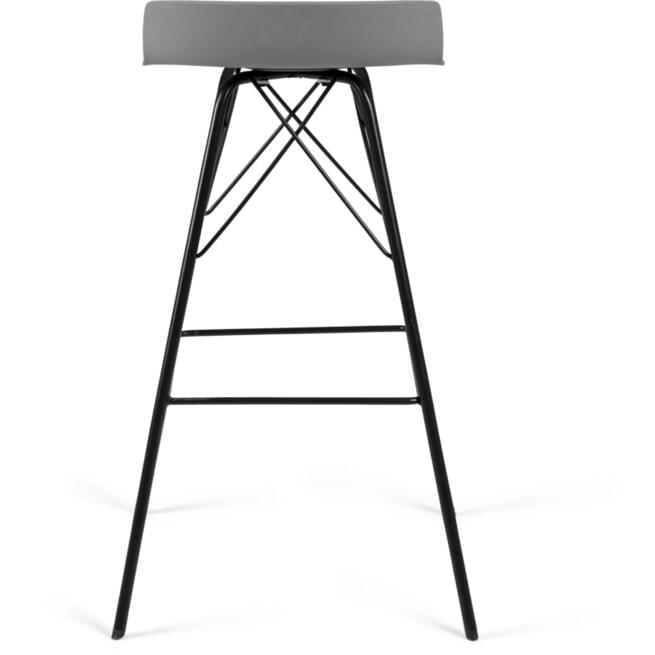Tenzo Barkruk 'Tori' (zithoogte 71cm), kleur Grijs/Zwart