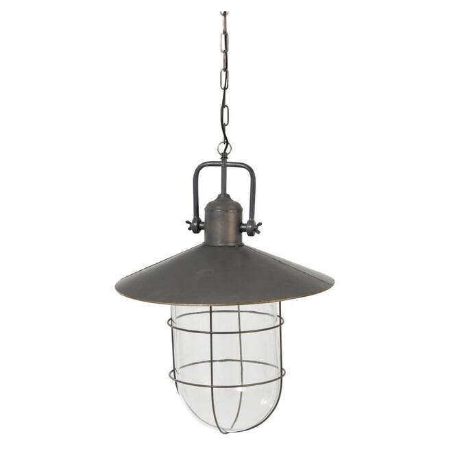 J-Line Hanglamp 'Philemond' kleur Grijs, Ø51cm