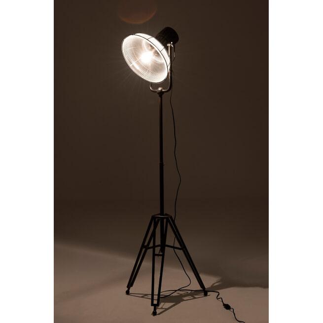 J-Line Vloerlamp 'Chretien' kleur Zwart