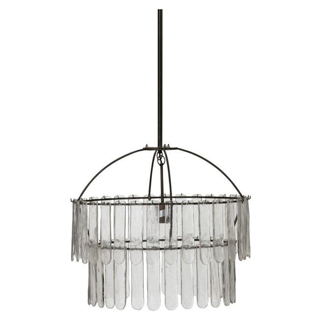 J-Line Hanglamp 'Evarist' kleur Zwart, Ø58cm