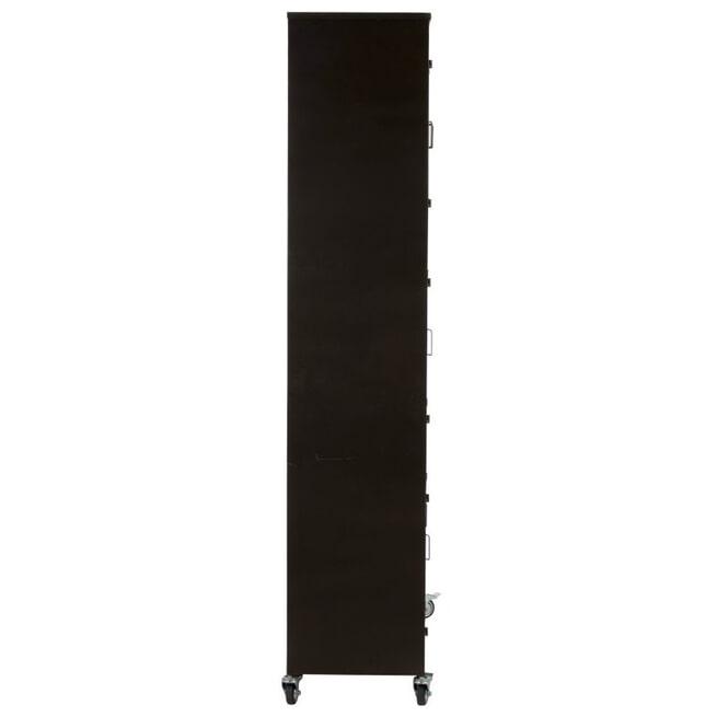 J-Line Lockerkast 'Jean-Marie' Op Wielen, kleur Zwart
