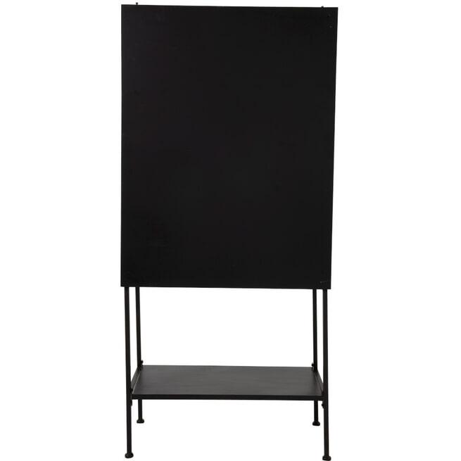 J-Line Vitrinekast 'Godeliva' kleur Zwart