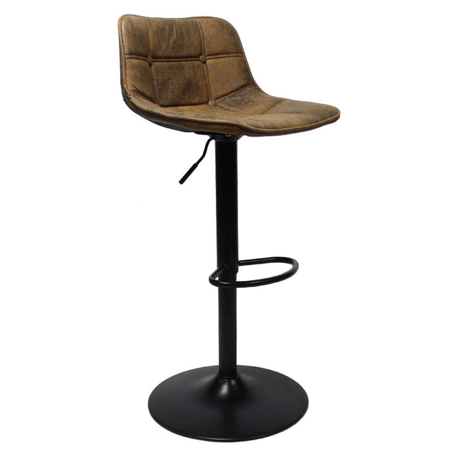 Brookvin Barkruk 'Damien', kleur vintage bruin