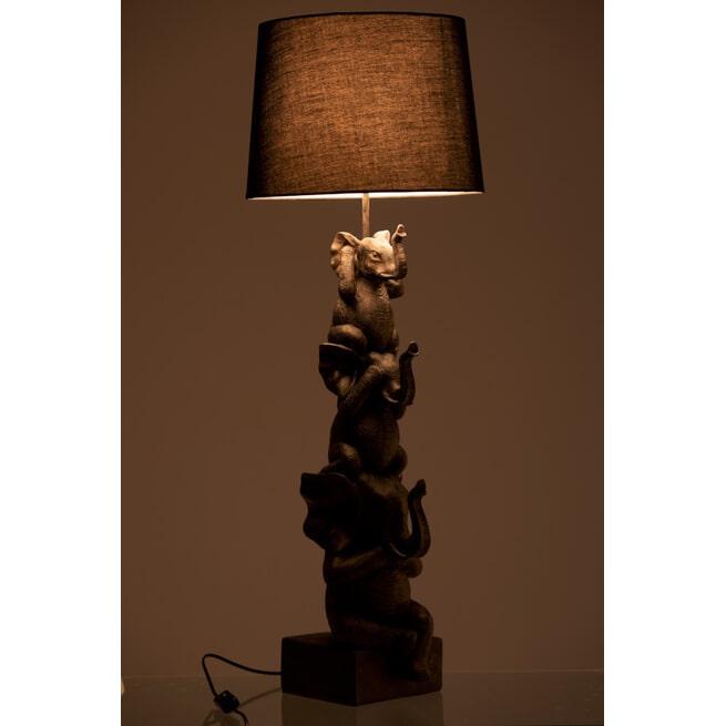 J-Line Vloerlamp 'Modest' Olifanten, kleur Bruin