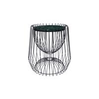 Kayoom Bijzettafel 'Malibu' Marmer en staal, kleur zwart / groen