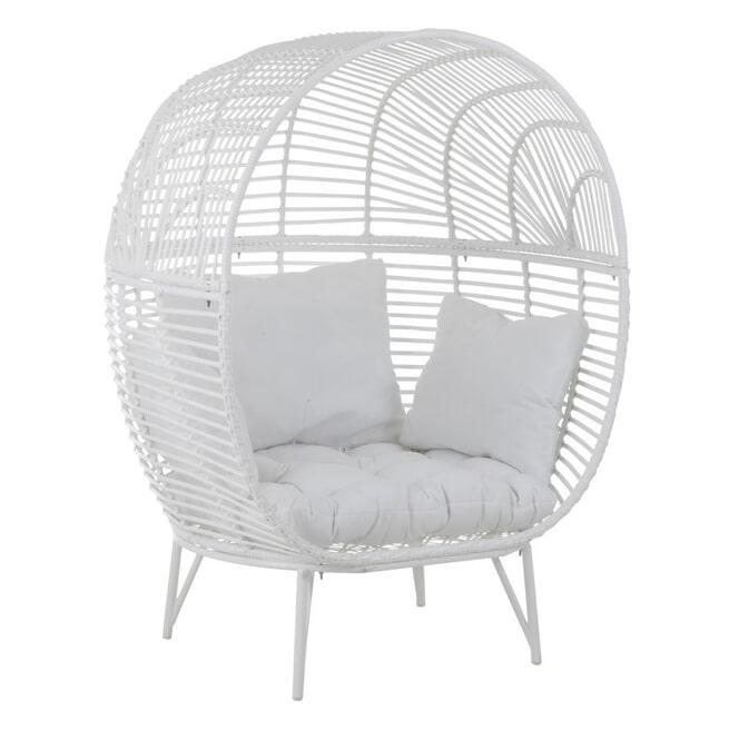 J-Line Loungestoel 'Martial' kleur Wit