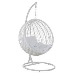 J-Line Hangstoel 'Jocelyne' kleur Wit