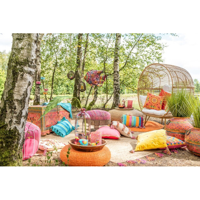 J-Line Loungestoel 'Gomar' kleur Naturel