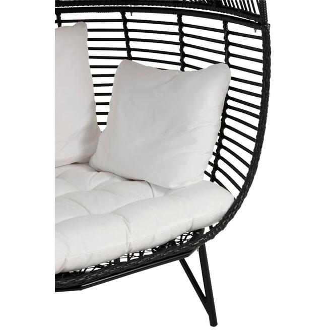 J-Line Loungestoel 'Marietta' kleur Zwart