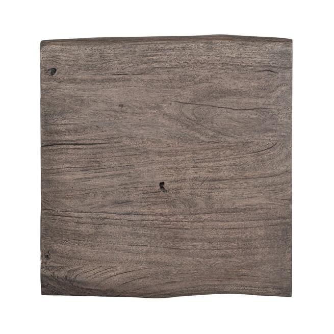 Richmond Bijzettafel 'Tuxedo' Acaciahout en Staal, 59 x 50cm
