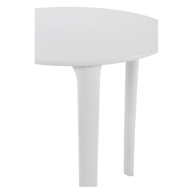 J-Line Bijzettafel 'Honoré' kleur Wit, Ø70cm