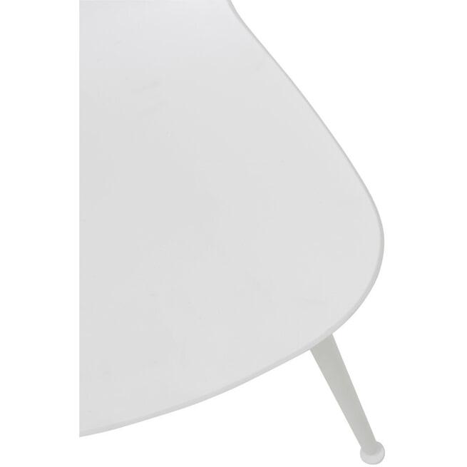 J-Line Eetkamerstoel 'Vince' kleur Wit