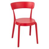 J-Line Eetkamerstoel 'Kurt' kleur Rood