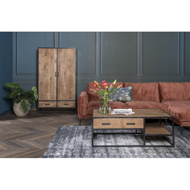 LivingFurn Opbergkast 'Sturdy' kleur Naturel, 170 x 100cm