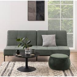 Bendt Slaapbank 'Maja' Velvet, kleur Grijs/Groen