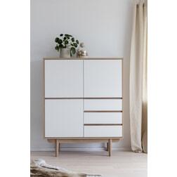 Interstil Opbergkastje 'Skaga' Eiken / wit, 135 x 110cm