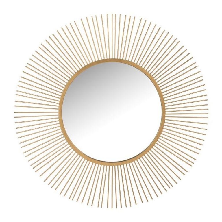 J-Line Spiegel 'Anne-Marie' kleur Goud, Ø110cm