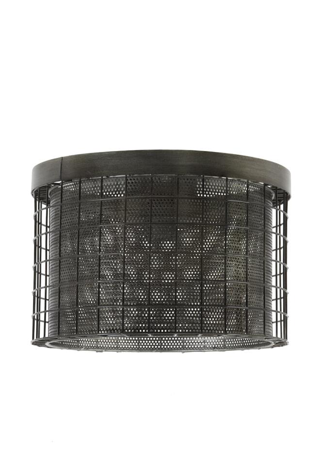 Light & Living Plafonniere 'Digo', antiek zink