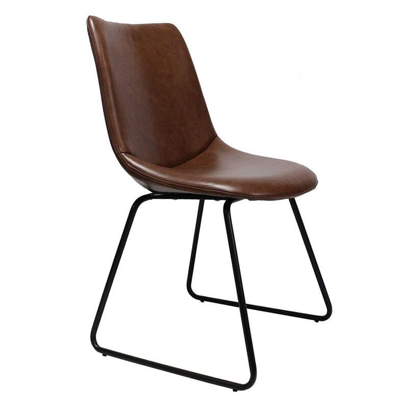 Uw partner in meubels: Brookvin Eetkamerstoel 'Son', kleur bruin Zitmeubelen | Eetkamerstoelen