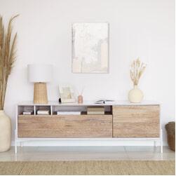 Kave Home TV-meubel 'Marielle' Essenhout, 187cm