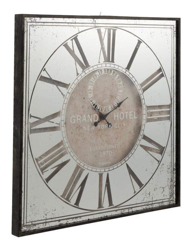 J-Line Wandklok 'Lidy' met spiegel, 99.5cm