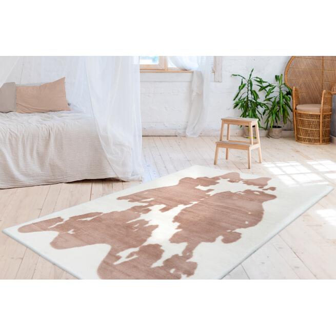 Kayoom Vloerkleed 'Rabbit Cow' kleur bruin / wit