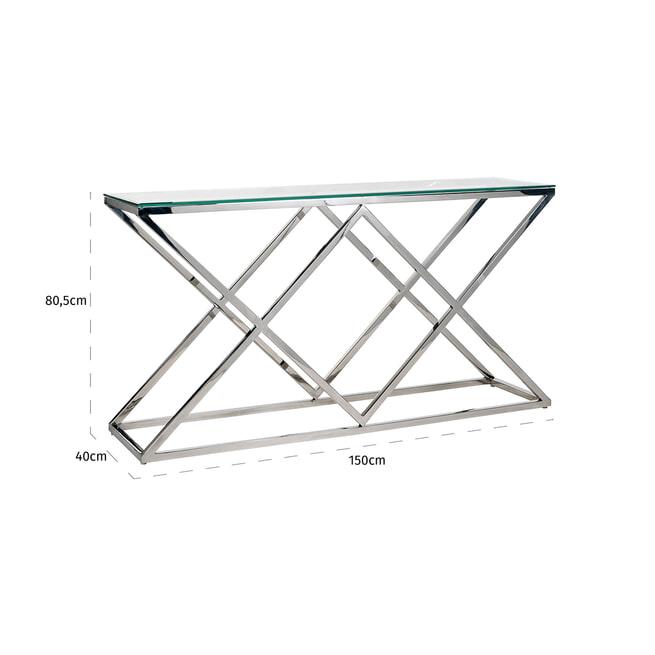 Richmond Sidetable 'Paramount' RVS, kleur Zilver, 150cm
