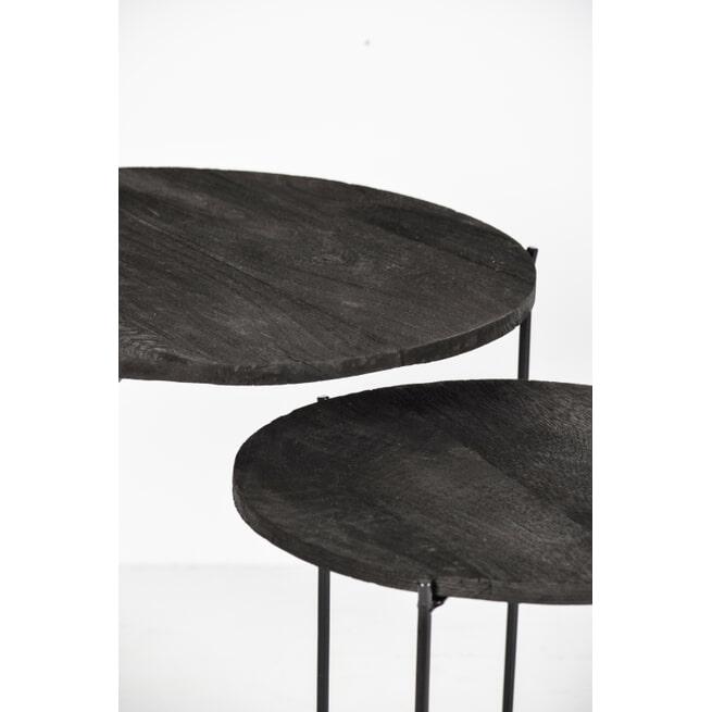 Brix Bijzettafel 'Mason' Set van 2 stuks, kleur Zwart