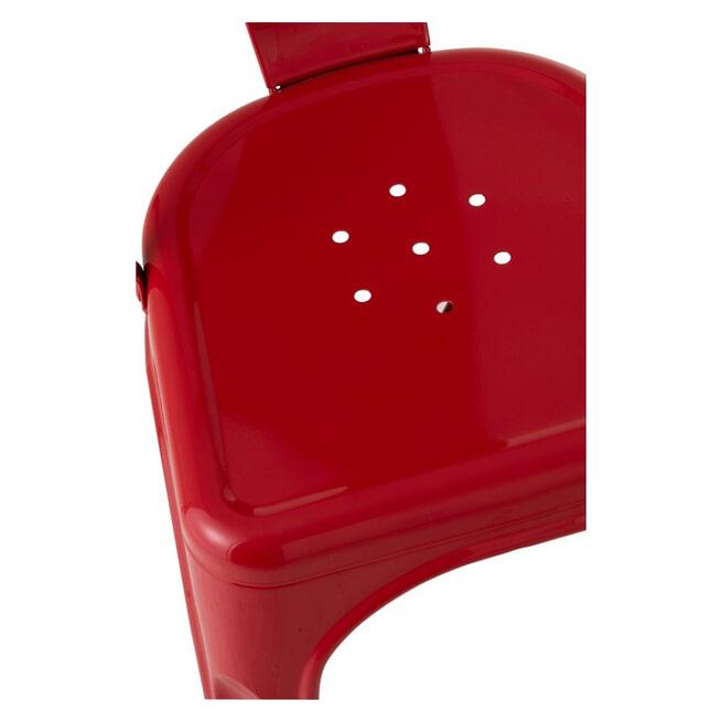 J-Line Eetkamerstoel/Bistrostoel 'Blanca' kleur Rood