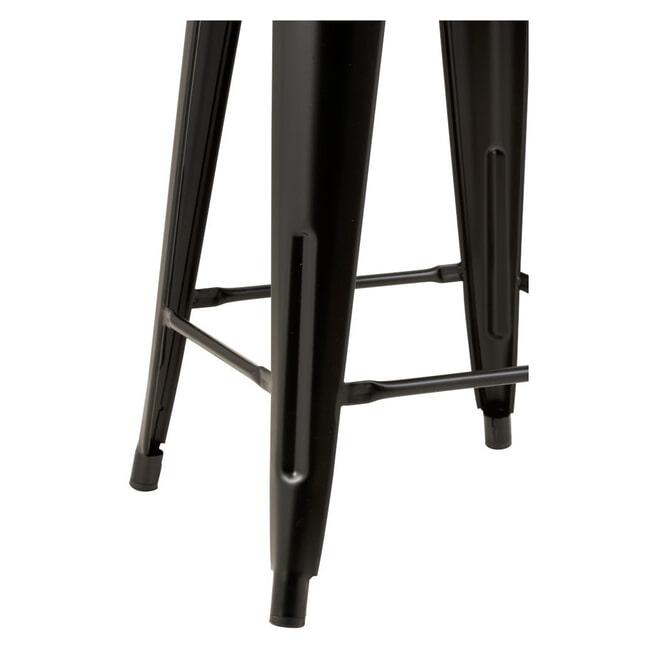 J-Line Barkruk 'Blanca' (zithoogte 61cm), kleur Zwart