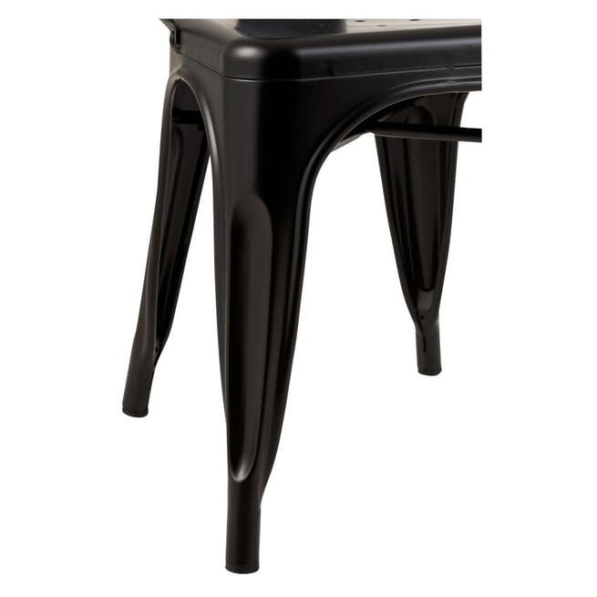 J-Line Eetkamerstoel/Bistrostoel 'Blanca' kleur Zwart