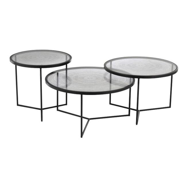 J-Line Bijzettafel 'Romaine' Set van 3 stuks, 70.5cm