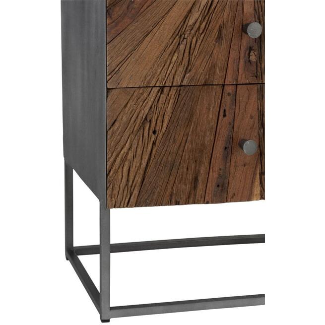 J-Line Ladenkast 'Reinold' met 5 laden, 110 x 45.5cm