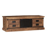 LivingFurn TV-meubel 'Tamar' Mangohout en staal, 150cm