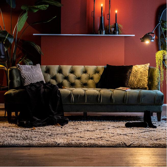 Eleonora Bank 'Vogue' Velvet 214cm