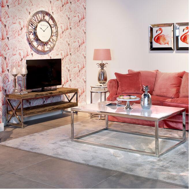Richmond TV-meubel 'Kensington' RVS en Mangohout