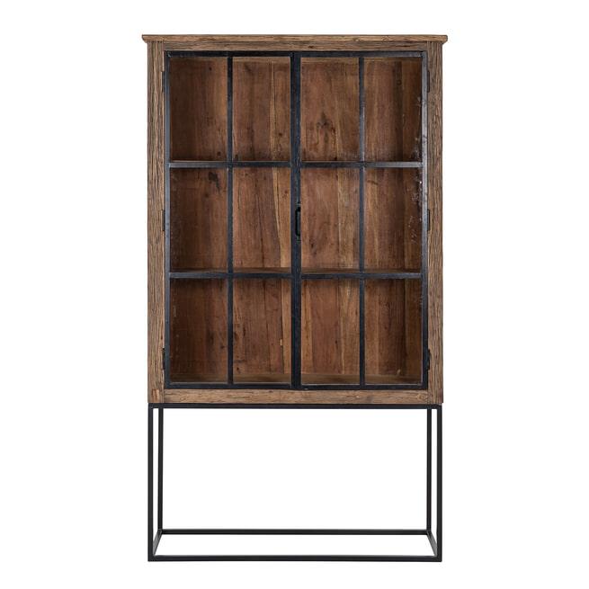 Richmond Vitrinekast 'Raffles' Staal en gerecycled hout, 200 x 116cm