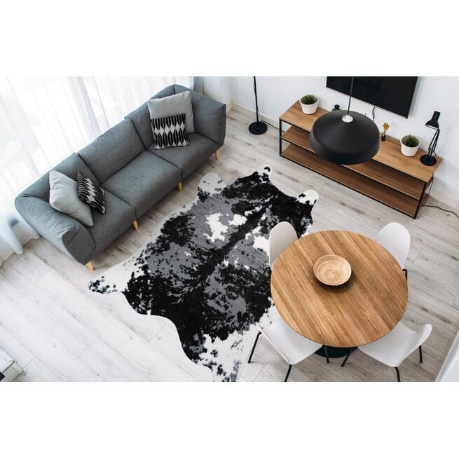 Kayoom Vloerkleed 'Desert 225' kleur Zwart / Wit, 160 x 230cm