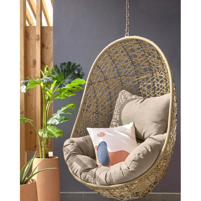 Kave Home Hangstoel 'Florina' kleur Bruin