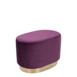Kayoom Poef 'Nano' 55cm, kleur paars