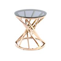 Kayoom Bijzettafel 'Wesley' 50cm, kleur rosé goud