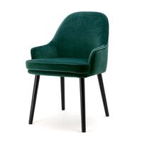 Eleonora Eetkamerstoel 'Barbara' Velvet, kleur groen