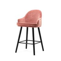 Eleonora Barstoel 'Barbara' (zithoogte 65cm) Velvet, kleur roze
