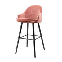 Eleonora Barkruk 'Barbara' (zithoogte 80cm) Velvet, kleur roze
