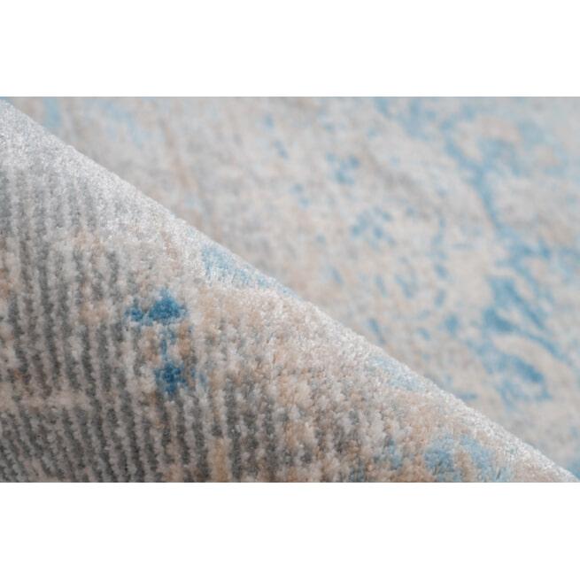 Kayoom Vloerkleed 'Barok 300' kleur Grijs / Turquoise