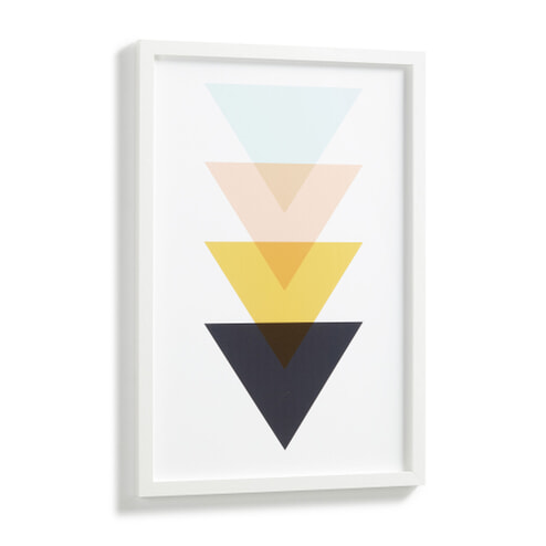 Kave Home Wandbord 'Bekko' Driehoeken