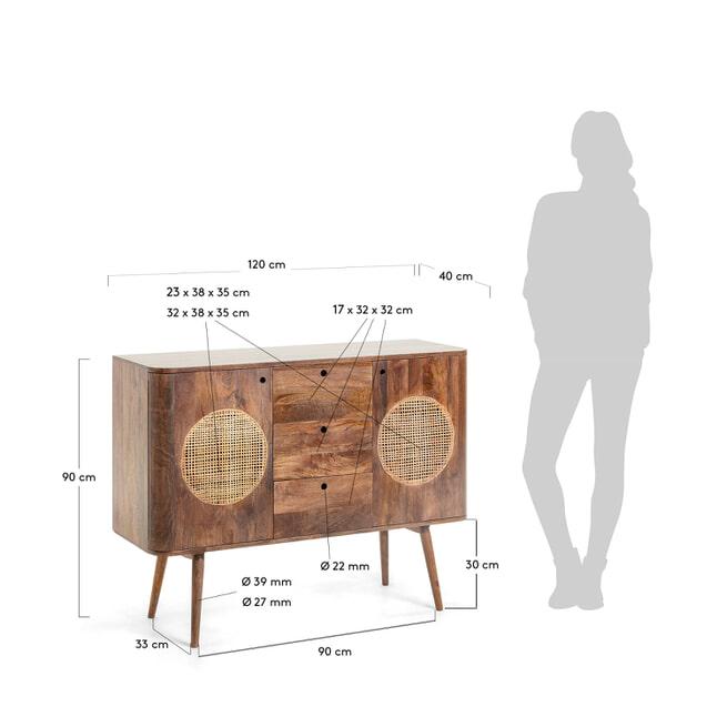 Kave Home Dressoir 'Beatrice' 120cm