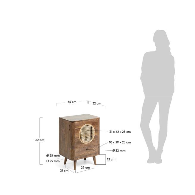 Kave Home Nachtkastje 'Geraldine' 62cm