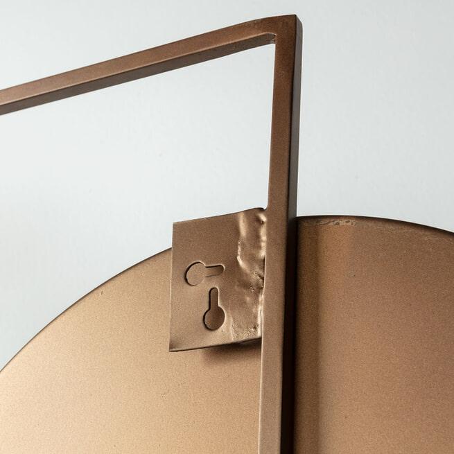 Kave Home Spiegel 'Platte' 83 x 81cm, kleur Koper