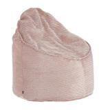 Kave Home Poef 'Bimba' Rib, kleur Roze
